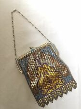 Whiting & Davis Metallic Mesh Deco Style Evening Purse
