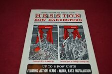 Hesston Row Harvesters Dealer's Brochure YABE10