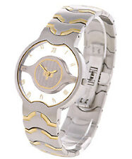 LUCIEN PICCARD LADIES SWISS QUARTZ WATCH NEW 26312 TWO TONE STAINLESS
