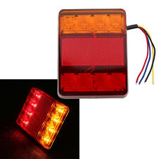 Waterproof 8 LED Taillights Red Yellow Rear Warning Light Trailer Truck Car