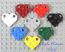 NEW Lego Lot/8 Valentine's Day HEARTS SET White Red Blue Green Yellow Black Gray