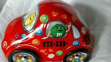 COOL Vintage M&Ms Volkswagen Beetle VW Car Shaped Tin Red FREE SHIPPING