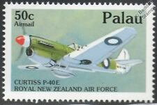 WWII RNZAF CURTISS P-40-E Kittyhawk Aircraft Airplane Mint Stamp (1992 PALAU)