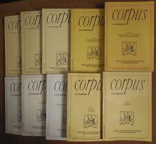 CORPUS DES OEUVRES DE PHILOSOPHIE  20 volumes