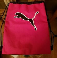 PUMA Cat Forever Drawstring Backpack Cinch GYM Sack School Soccer Sport Tote Bag
