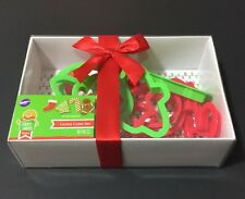 Wilton Christmas Cookie Cutter Set 10 Piece Holiday New with Red Ribbon Giftable