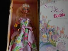 BARBIE DOLL SPRING PETALS AVON 1996 2 IN SERIES SPECIAL EDITION SUPER STAR FACE