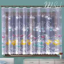 Children's Net Curtain Nemo Fish Ocean Sea life Ready Made SOLD BY THE METRE