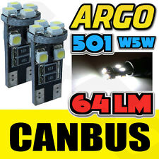 T10 501 W5W CAN-BUS 5000K INTERIOR WHITE LED 8-SMD BULBS