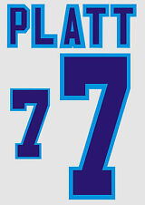 Euro 1996 Platt 7 England Home Football Name set for National shirt
