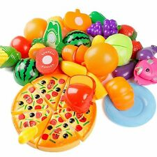 24Pcs Plastic Fruit Vegetable Kitchen Cutting Toy, YIFAN Early Development and