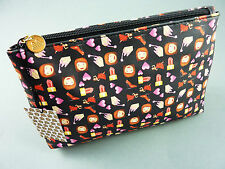 NEU PRIMARK EMOJI KOSMETIKTASCHE MAKE UP SCHMINK- TASCHE SMILEY EMOTICON SCHWARZ
