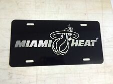 MIAMI HEAT LOGO Car Tag Diamond Etched on Aluminum License Plate
