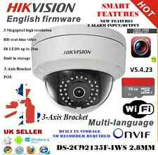HIKVISION CCTV Telecamera a cupola SMART ds-2cd2135f-iwf 3MP costruito in WIFI DVR NVR POE