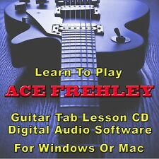 ACE FREHLEY Guitar Tab Lesson CD Software - 12 Songs