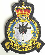 RAF n°13 Escadron Royale Air Force Militaire Patch brodé MOD approuvé