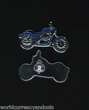 SOMALIA $1 2007 MOTOR CYCLE BIKE SHAPED BLUE COLOURED CURRENCY AFRICA MONEY COIN