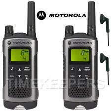 10Km Motorola TLKR T80 Walkie Talkie Two Way Security Leisure Radio + 2 Headsets