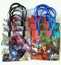 12 pcs Marvel Avengers Goody Gift Loot Bag Child's Birthday Party Favors Supply