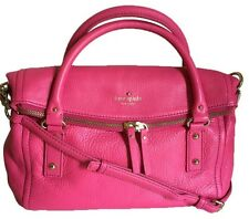 NWT Kate Spade Cobble Hill Small Leslie Leather Satchel Handbag Purse PINK bag