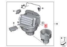 Genuine BMW F01 F01N F02 F02N F03 F03N Heater Blower Motor OEM 64119242607