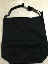 NWT BAGGU DUCK BAG Black SHOULDER SHOPPER TOTE HANDBAG Canvas New Laptop +Pocket