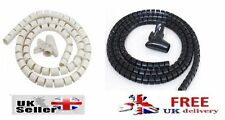 Cable Tidy Kit TV PC Wire Organising Home Cinema Lead Wrap Office Spiral Banding