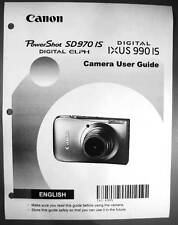 Canon Powershot SD970 IS IXUS 990 IS  Digital Camera User Guide Manual