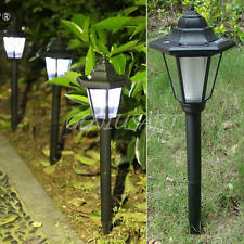 Outdoor Solar Power LED Path Way Wall Landscape Garden Fence Lamp Spot Light