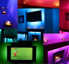LED MOOD LIGHTING IDEAS TV BACK LIGHTS COLOUR CHANGING SAFE LOW ENERGY BACKLIGHT