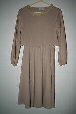Vintage 1970s Polyester Pleated dress by TF Mod Retro Hippie Disco Exc!