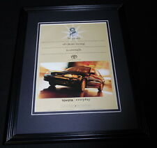 1997 Toyota Corolla Framed 11x14 ORIGINAL Vintage Advertisement