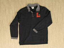 """Lacoste Long-Sleeve Black Rugby Men's Size 4 (M) Big """"L"""" Logo Casual Shirt"""