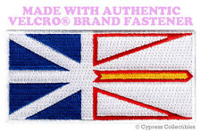 NEWFOUNDLAND FLAG PATCH CANADA EMBROIDERED CANADIAN w/ VELCRO® Brand Fastener