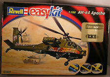 REVELL EASYKIT 06646 Ah-64 APACHE 1:100 EASY SNAP-TOGETHER LEVEL 2 NEW BOXED