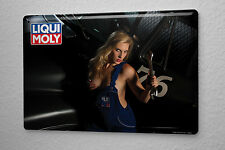 Sexy Girl Tin Sign  Liqui Moly wrench  8X12