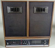 Vintage NUVOX 8 Track Player Am Fm Radio Stereo Speakers JAPAN 60s 70s DS-5800