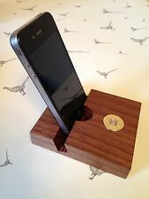 Purdey shotgun shell cartridge cap solid walnut Smartphone,iPhone Stand Holder!!