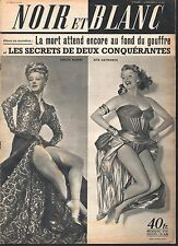 French Mag 1952 NOIR ET BLANC RITA HAYWORTH_GINGER ROGERS