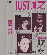 Just 17 - 17 Track CBS Studios Promo only cassette -B.O.Cult/Martika/ Mid Oil