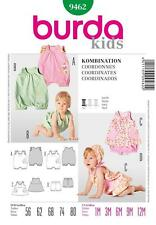 BURDA SEWING PATTERN KIDS BABIES JUMPSUIT 1 - 12 MTHS 9462