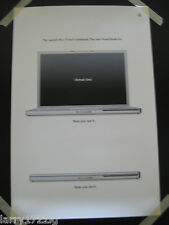 "Apple Computer Poster ""The New PowerBook G4"" The World's First 17-inch Notebook"