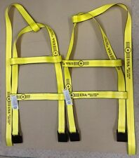 DEMCO Tiedown Straps Adjustable Tow Dolly Wheel Net Set Flat Hook YELLOW USA