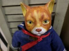 Vintage Gordon Fraser Cat Puss in Boots w/ Boat Schmid Porcelain doll very Rare