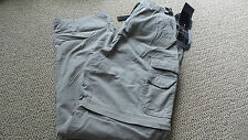 NEW Men's BC Clothing Convertible Cargo Pants Convert Pants Shorts Beige LARGE
