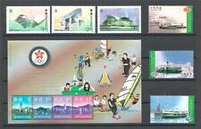 Hong kong China Sc# 788-50 Landmarks Sc# 812-14 Ships Sc# 779c 2sets & sheet MNH