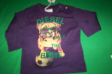 "NWT   DIESEL $29 ""TAKEOB"" ONLY THE BRAVE L/S T SHIRT BABY PURPLE 6M"