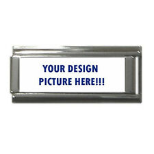 New Personalized Custom Your Logo Design Photo Text Superlink Italian Charm 9mm