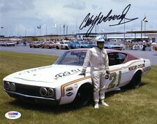 CALE YARBOROUGH SIGNED AUTOGRAPHED 8x10 PHOTO NASCAR LEGEND PSA/DNA