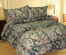 Queen Size Microfiber Comforter Spread Woodland Forest Camo Camouflage Bedding